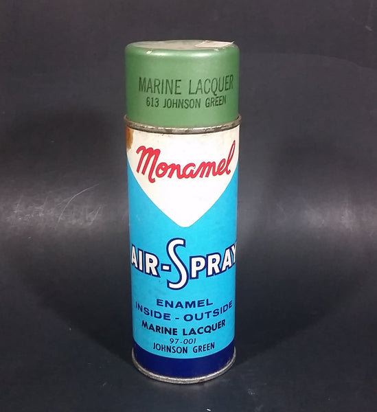 Vintage 1970s Monamel Air Spray Marine Lacquer 613 Johnson Green - Treasure Valley Antiques & Collectibles