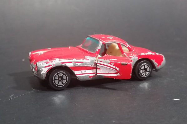1980s Yatming Red 1957 Chevrolet Corvette w/ Opening Doors Diecast Toy Car No. 1079 - Treasure Valley Antiques & Collectibles