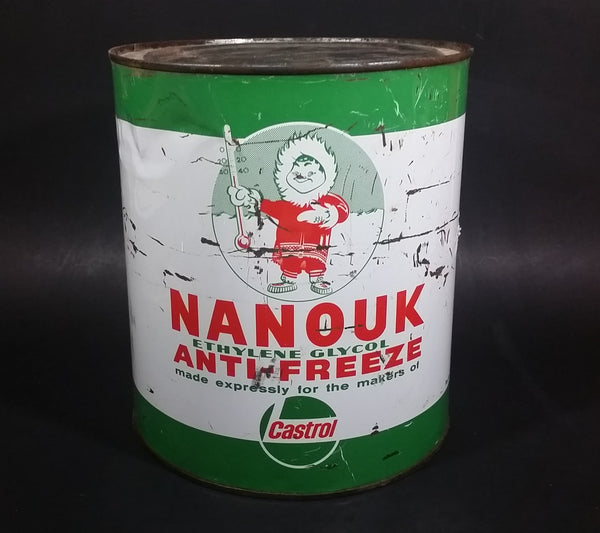 Rare Vintage Castrol Nanouk Ethylene Glycol Anti-Freeze One Imperial Gallon Can