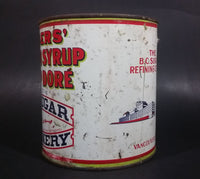 Vintage Rogers' Golden Syrup Vancouver B.C. Sugar Refinery 5 lb 2.27Kg Tin Can - Treasure Valley Antiques & Collectibles