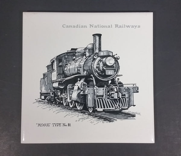 Canadian National Railways CNR 'Mogul' Type No. 81 Ceramic Tile - Treasure Valley Antiques & Collectibles