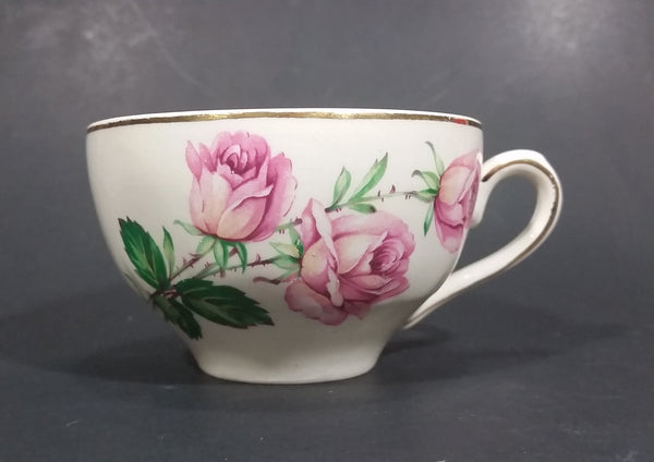 "Vintage ""Rose Bouquet 22KT Gold Border Made In England G"" China Tea Cup - Treasure Valley Antiques & Collectibles"