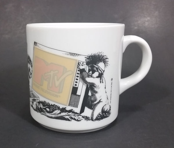 Vintage 1986 MTV Networks Inc Rock Pop Punk Music Television Ceramic Coffee Mug - Treasure Valley Antiques & Collectibles