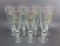 "Vintage Rare 1960s or 1970s RCMP Crest 8 1/2"" Tall Beer Pilsner Clear Glasses Set of 7 - Treasure Valley Antiques & Collectibles"