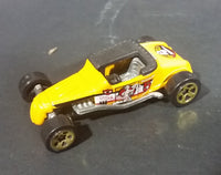 "1998 Bake'n Betty Flying Aces II ""Track T"" ""The Eagle Squadron"" Yellow Die Cast Toy Car"