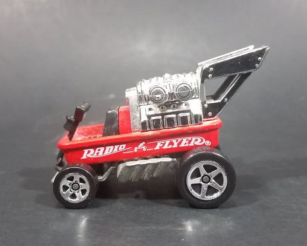1996 Hot Wheels Red Radio Flyer Wagon w/ Black Seat Die Cast Toy Car - Treasure Valley Antiques & Collectibles