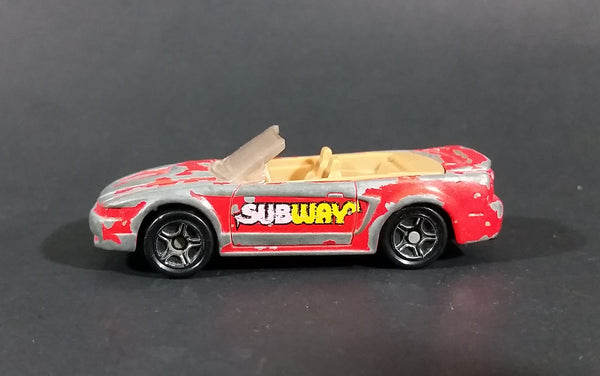 1999 Matchbox Subway Restaurants Red Ford Mustang Convertible Die Cast Toy Car - Treasure Valley Antiques & Collectibles