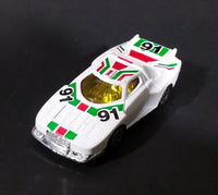 1980s Marz Karz White #91 Lancia Stratos Turbo Group S8006 Die Cast Toy Race Car - Treasure Valley Antiques & Collectibles