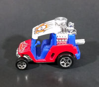 2000 Hot Wheels Tee'd Off Red and Purple with Orange Flames Golf Cart Hot Rod Die Cast Toy Car - Treasure Valley Antiques & Collectibles