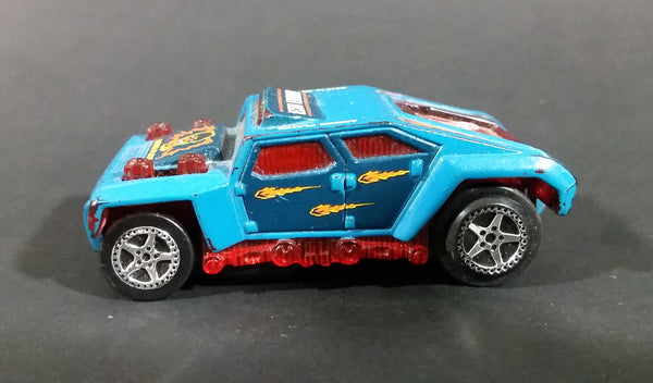 1998 Hot Wheels Electric Slot Car Blue Armored Plated Racer Toy Car Not Tested - Treasure Valley Antiques & Collectibles
