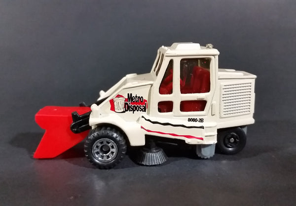 1999 Matchbox 'Metro Disposal' City Street Cleaner 8080-2B Road Sweeper Maintenance Die Cast Toy Vehicle - Treasure Valley Antiques & Collectibles