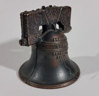 1930s Cast Iron Proclaim Liberty Throughout All The Land Bell Coin Bank - Treasure Valley Antiques & Collectibles