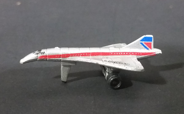 1987 Micro Machines British Airways Concord Jet Airplane Miniature Toy Aircraft - Treasure Valley Antiques & Collectibles