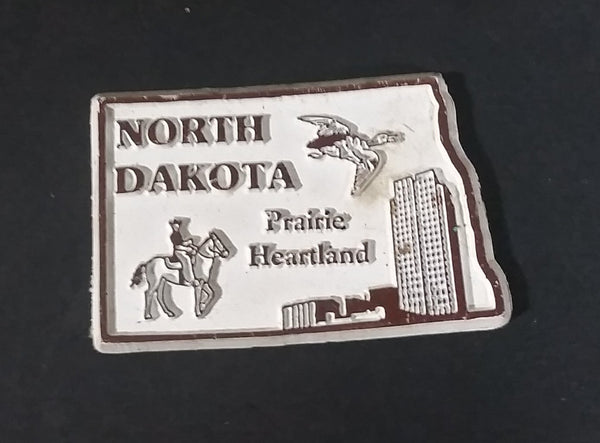 "North Dakota ""Praire Heartland"" State Shaped Fridge Magnet - ""Magnetic Collectibles Ltd."" - Treasure Valley Antiques & Collectibles"