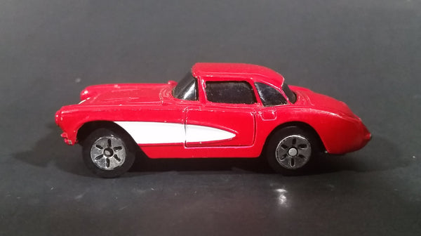 Maisto 1957 Chevrolet Corvette Red With White Stripe Die Cast Toy Car - Treasure Valley Antiques & Collectibles