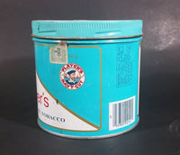 Vintage 1980s Blue Player's Navy Cut Cigarette Tobacco 200g Tin Can with Lid - Empty - Treasure Valley Antiques & Collectibles