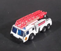 1982 Matchbox Fire Engine White w/ Red Ladder Die Cast Toy Emergency Vehicle - Treasure Valley Antiques & Collectibles