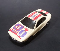 1980s Yatming BMW 850i Tan White Red Star Stripes Bird #4 Sport No. 804 Die Cast Toy Car
