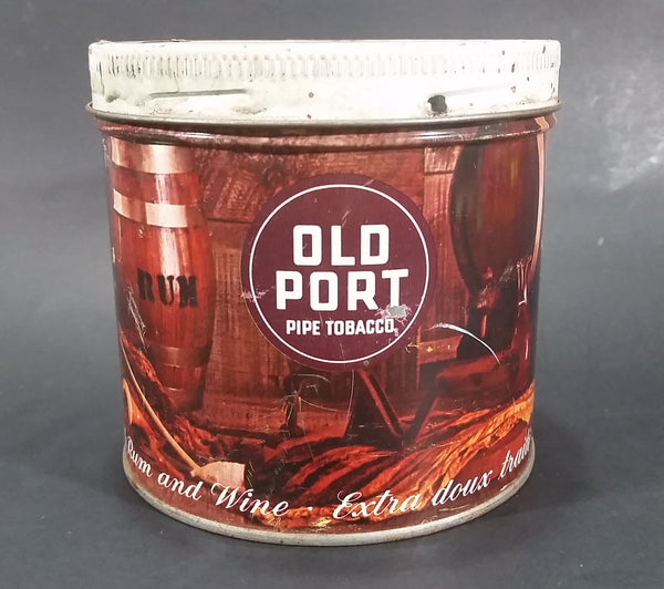 "Vintage Old Port Pipe Tobacco 'Extra Mild Flavored with Rum and Wine"" Tin Can - Empty - Treasure Valley Antiques & Collectibles"
