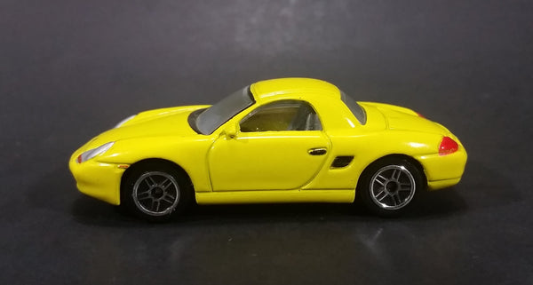 2001 Realtoy Porsche Boxster S Yellow Die Cast Toy Car - 1/58 Scale - Treasure Valley Antiques & Collectibles