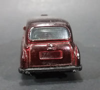 2004 Matchbox London Taxi Burgundy Maroon Die Cast Toy Car - Treasure Valley Antiques & Collectibles