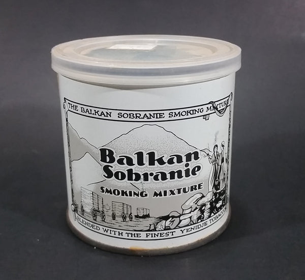 Vintage Balkan Sobranie Smoking Mixture 2oz Tobacco Tin w/ Plastic Lid - Woodward's Sticker - Treasure Valley Antiques & Collectibles