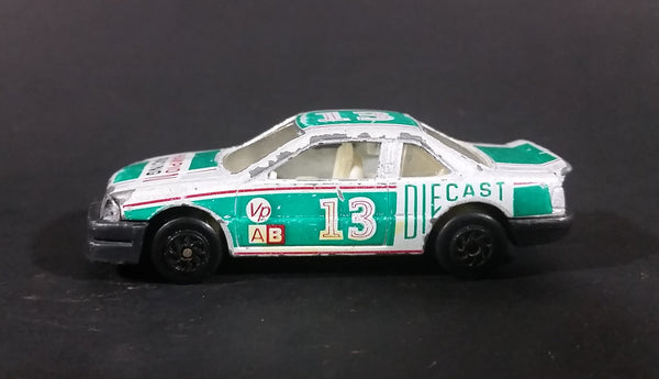 1980s Yatming Chevrolet Lumina Silver & Green #13 Racing Champions No. 1003b Die Cast Toy Car - Treasure Valley Antiques & Collectibles