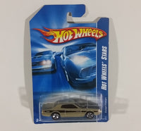2007 Hot Wheels Stars 1974 Dodge Charger Gold Die Cast Toy Car 154/156 New w/ Blue Card - Treasure Valley Antiques & Collectibles