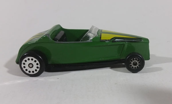 1980s Zee Zylmex High Tech Hot Rod Dark Green With Yellow Tampos No. D112 Die Cast Toy Car - Treasure Valley Antiques & Collectibles