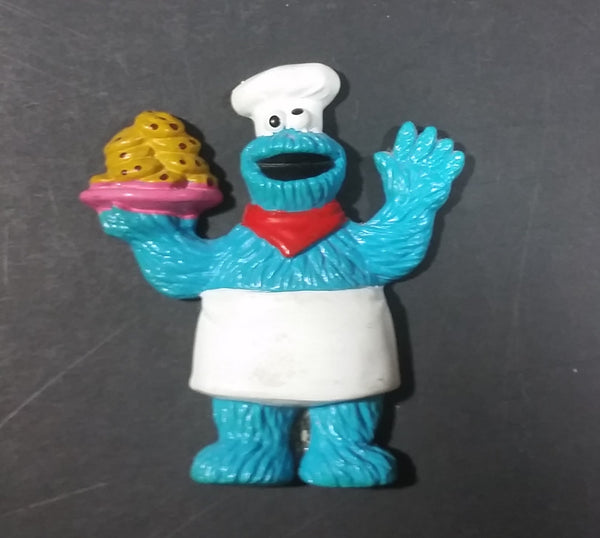 Vintage Muppets Cookie Monster in an Apron and Chef's Hat Fridge Magnet - Sesame Street - Treasure Valley Antiques & Collectibles