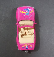 1990s Mercedes Benz SL 500 Convertible Pink River Tour Die Cast Plastic Bottom Toy Car
