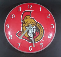 "Ottawa Senators NHL Ice Hockey 14"" Round Dome Wall Clock - Man Cave - Games Room - Treasure Valley Antiques & Collectibles"