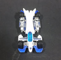 2004 Hot Wheels White and Blue Jet Threat 3.0 Zero-G Die Cast Toy Car - Treasure Valley Antiques & Collectibles