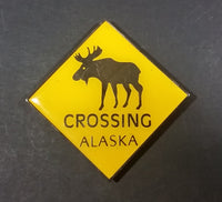 Collectibles Moose Elk Caribou Wildlife Animals Yellow Yield Crossing Sign Fridge Magnet - Treasure Valley Antiques & Collectibles