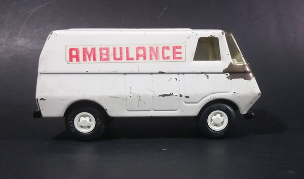 1970s Tonka 55360 Pressed Steel White Toy Ambulance Van - Emergency Vehicle - Treasure Valley Antiques & Collectibles
