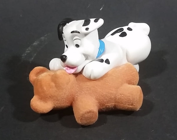 2000 McDonalds 102 Dalmatians Puppy Dog Licking Felt Teddy Bear PVC Figurine - Treasure Valley Antiques & Collectibles