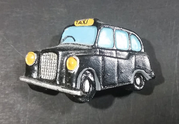 Collectible Black Hackney Carriage London Taxi Cab Souvenir Resin Fridge Magnet - Treasure Valley Antiques & Collectibles