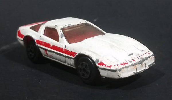 Vintage 1983 Ertl A-TEAM Chevrolet Corvette Die Cast Toy Car White Red Face RARE - Treasure Valley Antiques & Collectibles