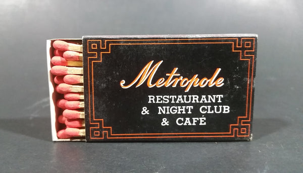 1970s Metropole Restaurant & Nightclub & Cafe Hong Kong Wooden Matches Box Pack - Treasure Valley Antiques & Collectibles