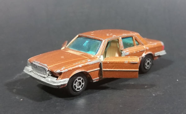 1980s Yatming Brown Bronze Mercedes 450 SL w/ Opening Doors Diecast Toy Car No. 1061