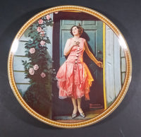"1983 Norman Rockwell Lady ""Standing in the Doorway"" Bradex Knowles Collector Plate - Treasure Valley Antiques & Collectibles"