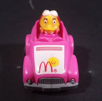 1985 McDonald's Happy Meal Fast Macs Birdie Character Pink Pull Back Toy Car Vehicle - Treasure Valley Antiques & Collectibles
