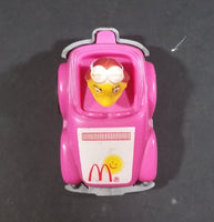 1985 McDonalds Happy Meal Fast Macs Birdie Character Pink Pull Back Toy Car - Treasure Valley Antiques & Collectibles