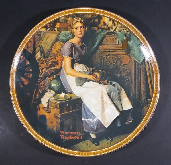 "1983 Norman Rockwell Lady ""Dreaming In The Attic"" Bradex Knowles Collector Plate - Treasure Valley Antiques & Collectibles"