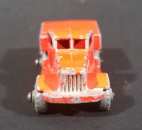 1956 Lesney Moko Prime Mover Orange No. 15a Die Cast Toy Truck Vehicle - Metal Wheels