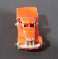 1956 Lesney Moko Prime Mover Orange No. 15a Die Cast Toy Truck Vehicle - Metal Wheels - Treasure Valley Antiques & Collectibles