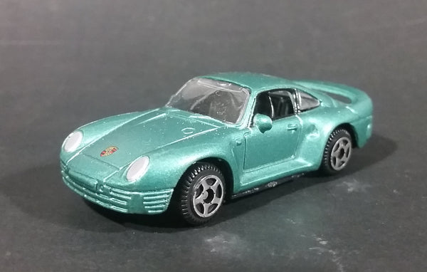 Motor Max Porsche 959 Green Teal Die Cast Toy Car Vehicle - 5 Spoke Wheels - Treasure Valley Antiques & Collectibles