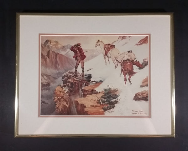 "Marcel Leduc After Charles Russell ""Meats Not Meat Til Its In The Pan"" Framed Print - Signed - Treasure Valley Antiques & Collectibles"