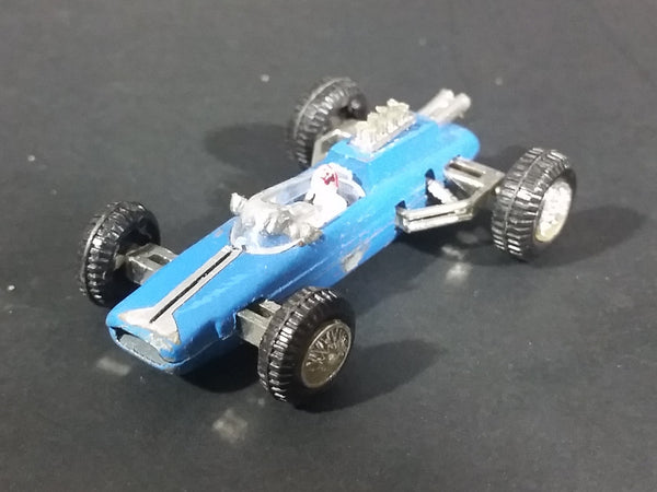 1975 Zee Toys Monacos Lotus Climax F-1 Blue No. D6 Die Cast Toy Formula One Race Car Vehicle - Treasure Valley Antiques & Collectibles