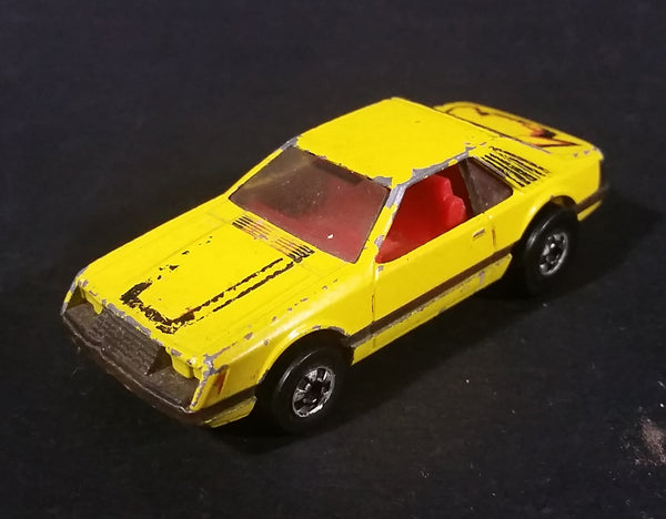 1980 Hot Wheels 1979 Ford Mustang Yellow Die Cast Toy Car